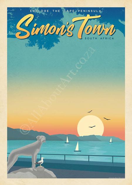 Vintage Simon's Town Poster