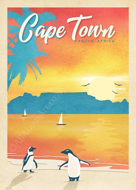 Cape Town Vintage Poster