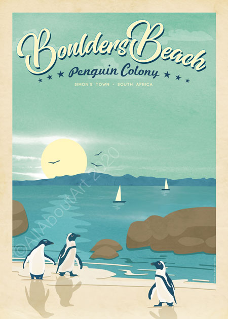 Boulders Beach Penguin Colony Poster Simon's Town