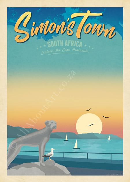 Simon's Town Art Poster